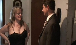Super amateur Milf sucks together with fucks in cum on tits